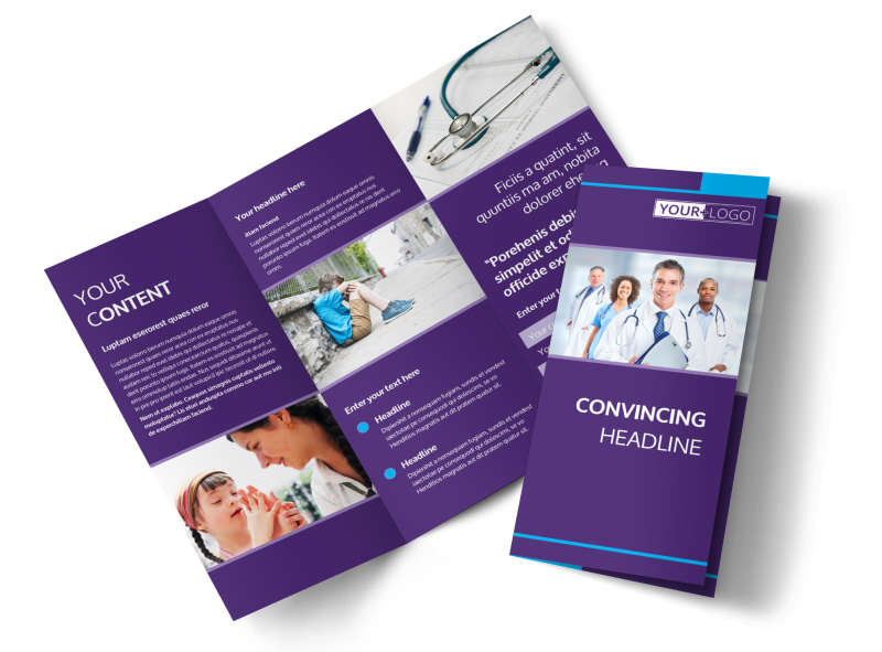 Pediatric Care Brochure Template MyCreativeShop