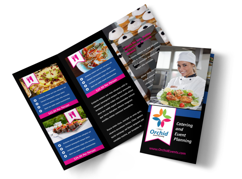Catering & Event Planning Brochure Template MyCreativeShop