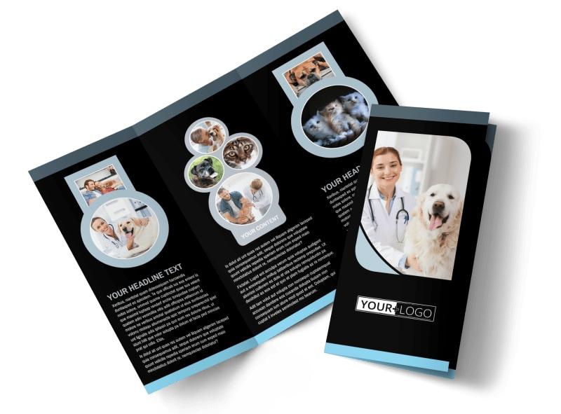 Veterinary Clinic Brochure Template MyCreativeShop