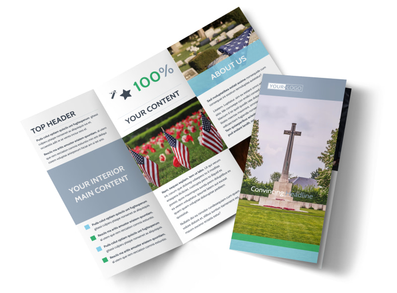Memorial & Funeral Services Brochure Template MyCreativeShop