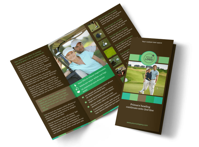 Golf Tournament Brochure Template MyCreativeShop