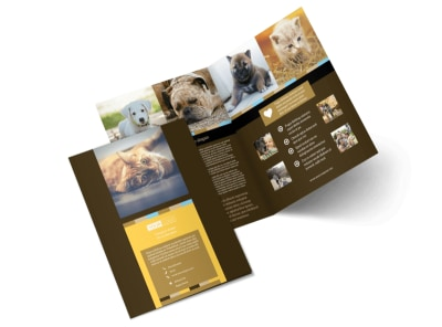 Animal Shelter & Pet Adoption Brochure Template MyCreativeShop