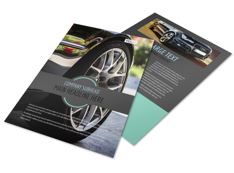 As part of what makes your experience at our. Tire Store Brochure Template Mycreativeshop