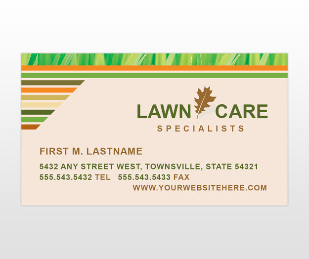 Lawn Care Grass Cutting Business Card Standard Business Cards