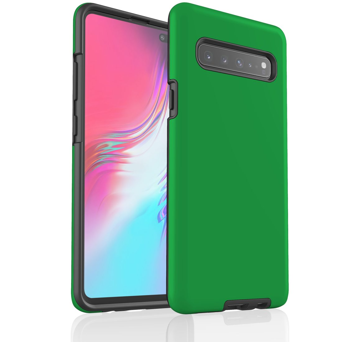 For Samsung Galaxy S10 5G Case. Armour Tough Protective Cover. Green   Buy Phone Cases & Covers - 0880226445287