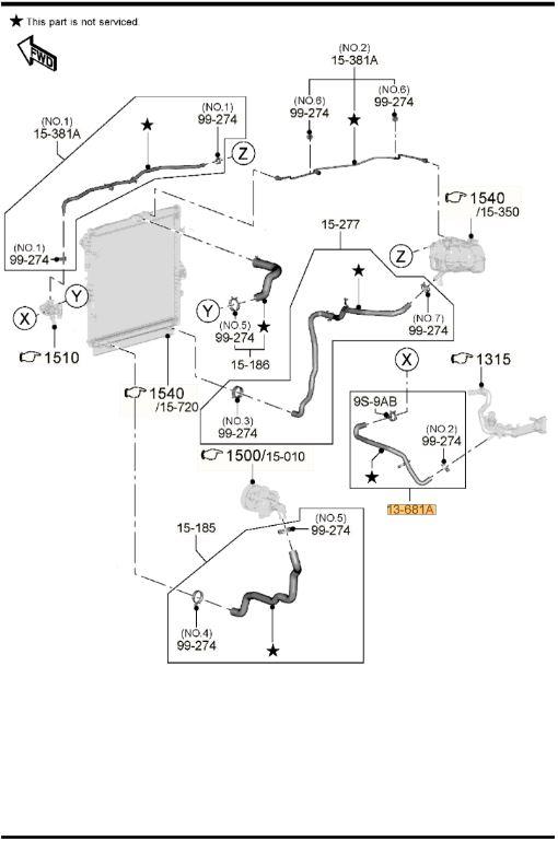 Genuine Mazda BT-50 UP UR Manual Coolant Hose Pipe EGR