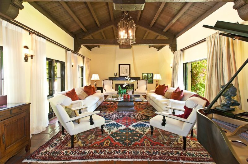 Spanish Style Homes Colonial Spanish Interior Design Ideas Living Room With  Ornate Rug Wood Beams Dark