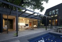 Pool House with Roof Deck