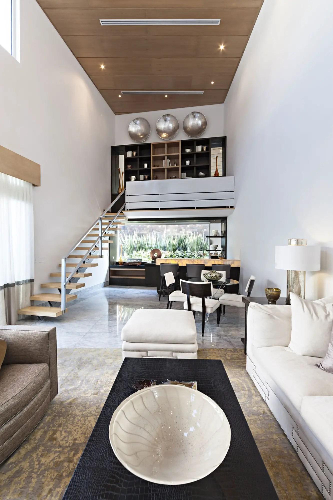 clean living room cape cod style house modern casa sorteo tec no. 191 in monterrey, méxico 14