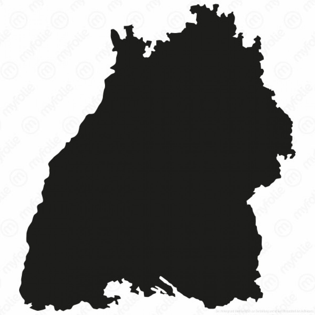 Umriss BadenWrttemberg  Autosticker  Aktionsaufkleber