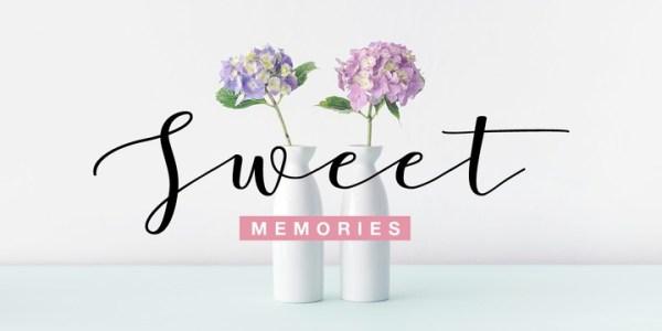 sweet pea schrift # 35
