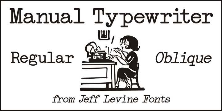 Alana Moresby: Download Manual Typewriter JNL Font by Jeff