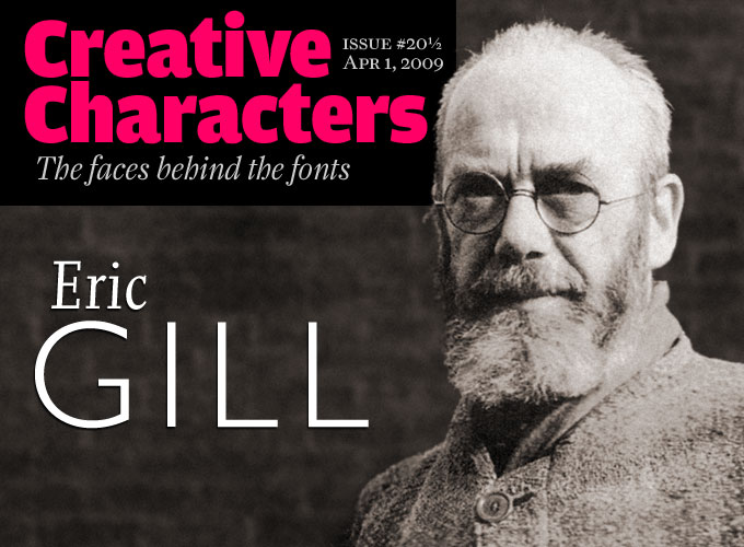 MyFonts Creative Characters Interview With Eric Gill