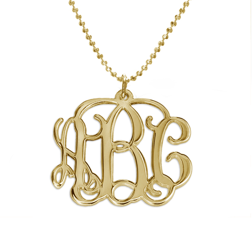 monogram necklace order of initials