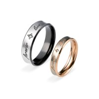 Couple's Promise Ring Set - FOREVER LOVE | MyNameNecklace