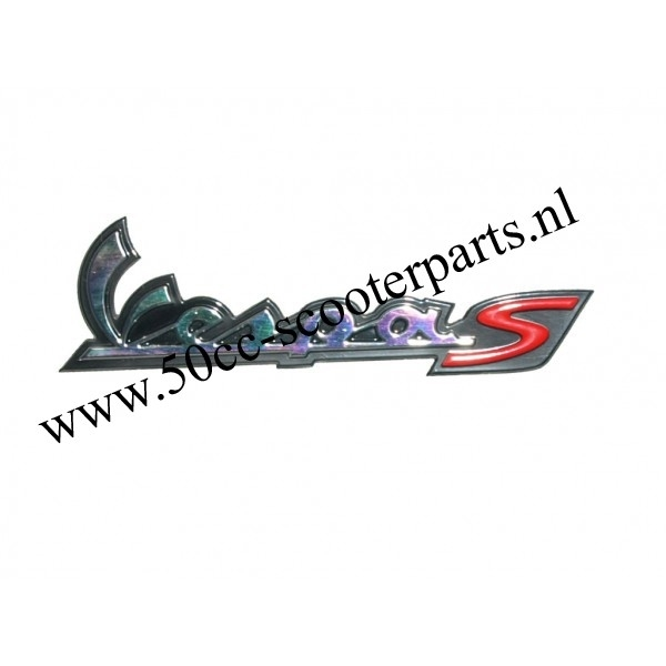 sticker Vespa woord [vespa S] achter piaggio orig 656228