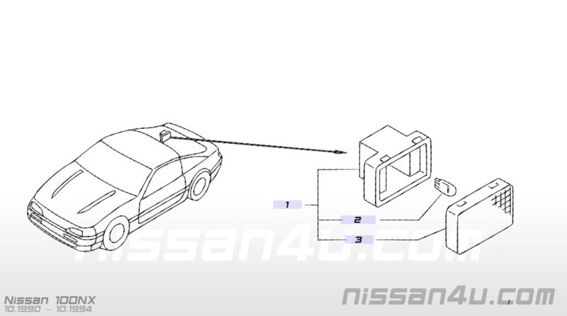 Kofferbaklamp Nissan 26490-15F10 B12/B13/N13/N14/S13/T12