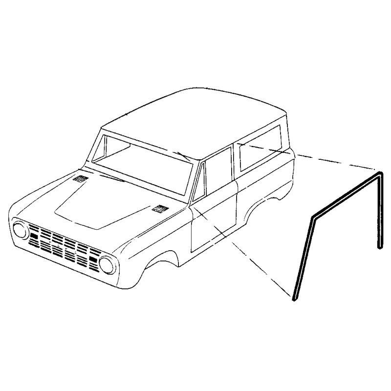 ROOF SIDE RAIL SEALS 66-77 Shop Ford Restoration Parts for