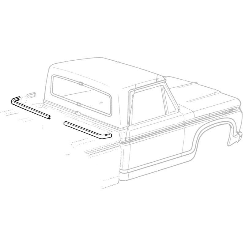 BACK BELT MLD AT BACK GLASS Shop Ford Restoration Parts