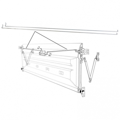 TAILGATE RELEASE RODS-PAIR Shop Ford Restoration Parts for
