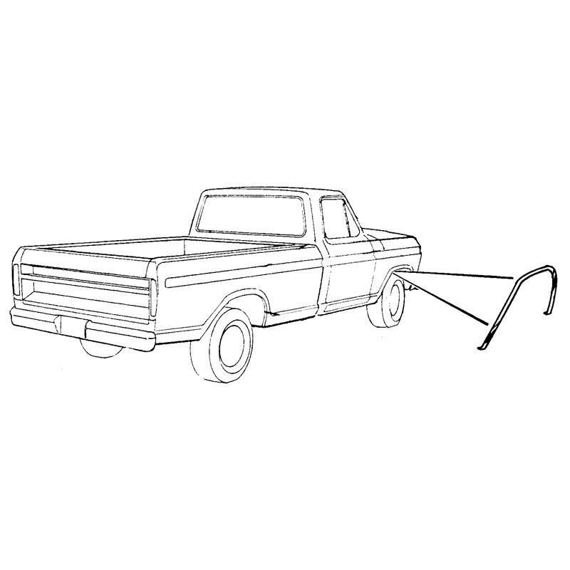 OS** F/FENDER WHEEL OPENING ML Shop Ford Restoration Parts