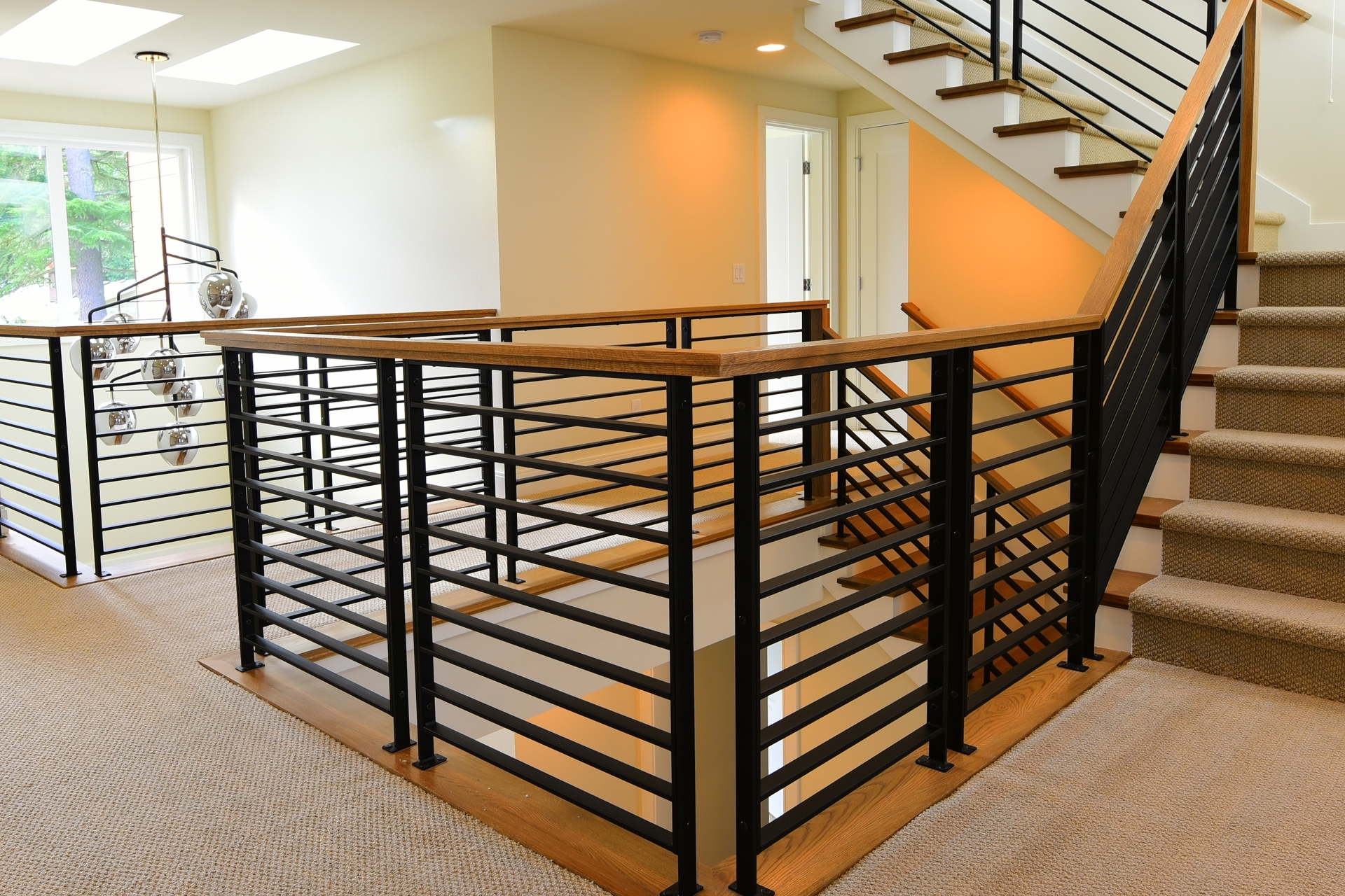 Stair Systems Stairs Stair Parts Newels Balusters And | Wooden Hand Railing Designs | Light Wood | Residential Industrial Stair | Wood Panel | Decorative Glass | Scandinavian