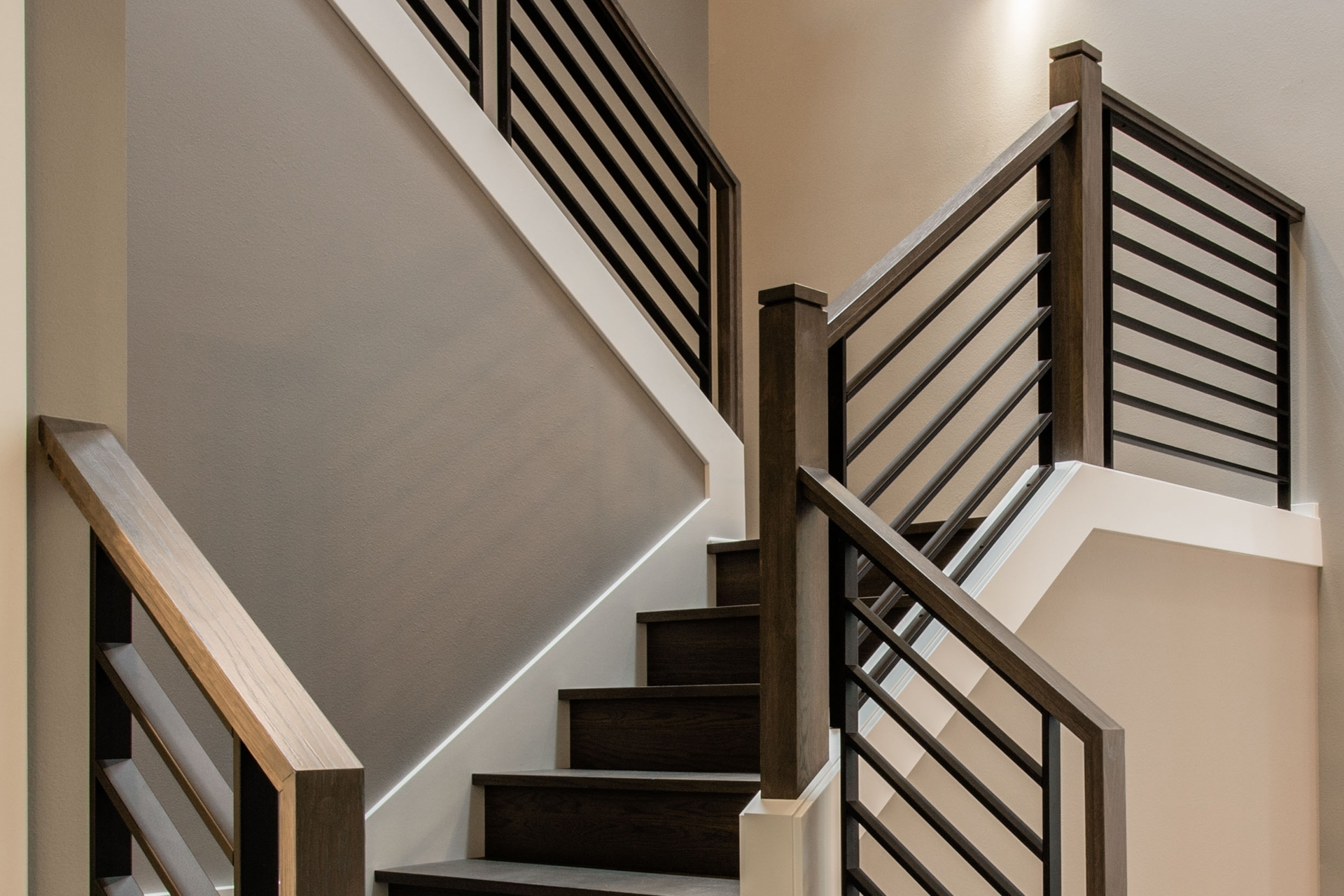 Stair Systems Stairs Stair Parts Newels Balusters And | Wood Handrail With Iron Balusters | Stairway | Wooden | Copper | Cast Iron | Landing