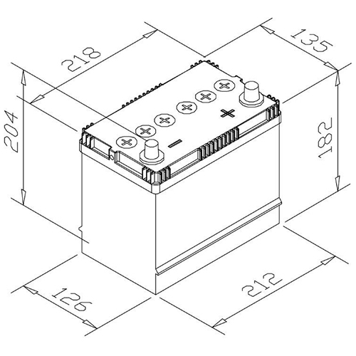 Battery F636C (40Ah) (F631C) CYMOT