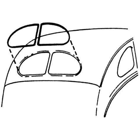 1937 Ford Cars/38 Sedans/39-40 Coupe Rear Window Seal