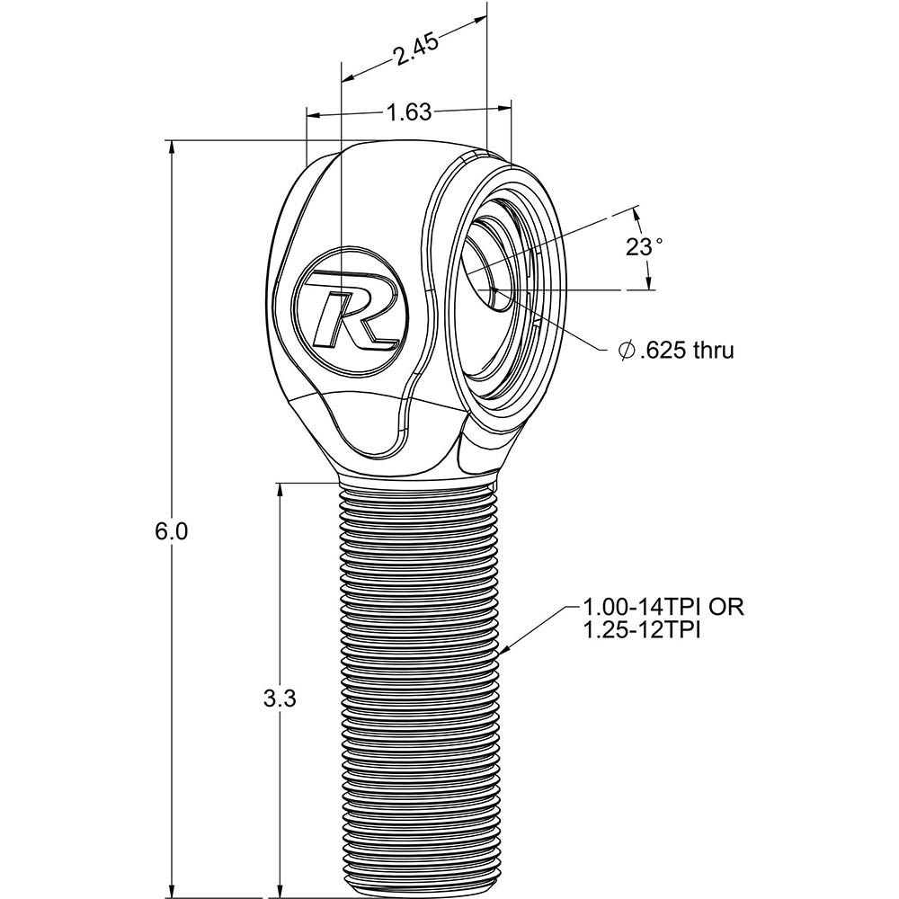 R-Joint XL Rod End with 1 ¼
