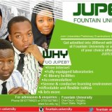 Fountain University JUPEB Admission Form for 2021/2022