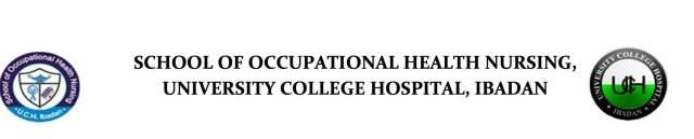 UCH Ibadan Post Basic Occupational Health Nursing Course Admission Form