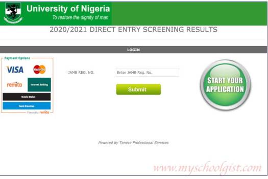 How to Check UNN Direct Entry Screening Result 2020:2021
