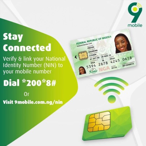Link your NIN to your 9mobile Number