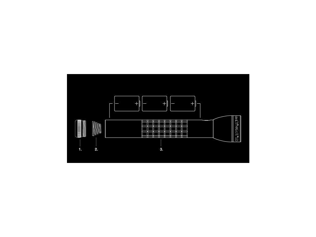 medium resolution of  maglite ml300lx 3 cell d led flashlight black