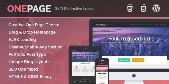 OnePage - Unique Portfolio and Single Page Business WordPress Theme