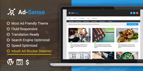 Adsense - Best WordPress Blog Theme For Earning More From Your Ads