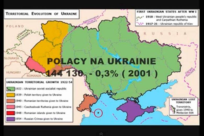 Znalezione obrazy dla zapytania polacy na ukrainie mapa
