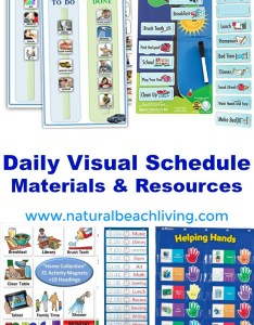 Perfect daily visual schedule materials  resources autism and special needs charts homeschool also rh naturalbeachliving