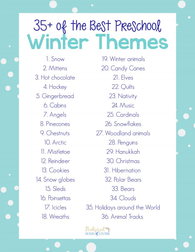 35+ Winter Preschool Themes and Lesson Plans - Natural Beach Living