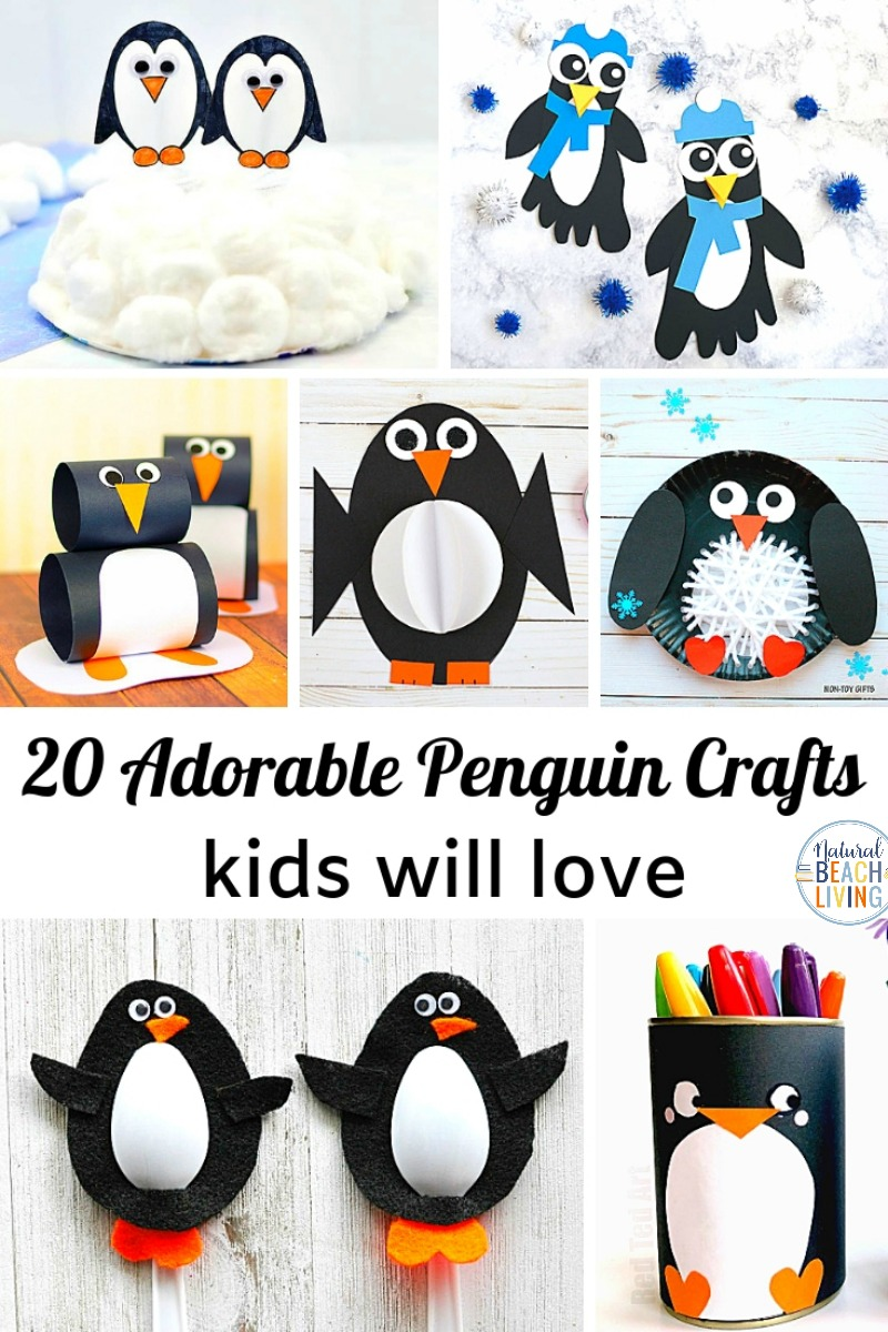 25 Penguin Crafts For Kids Natural Beach Living