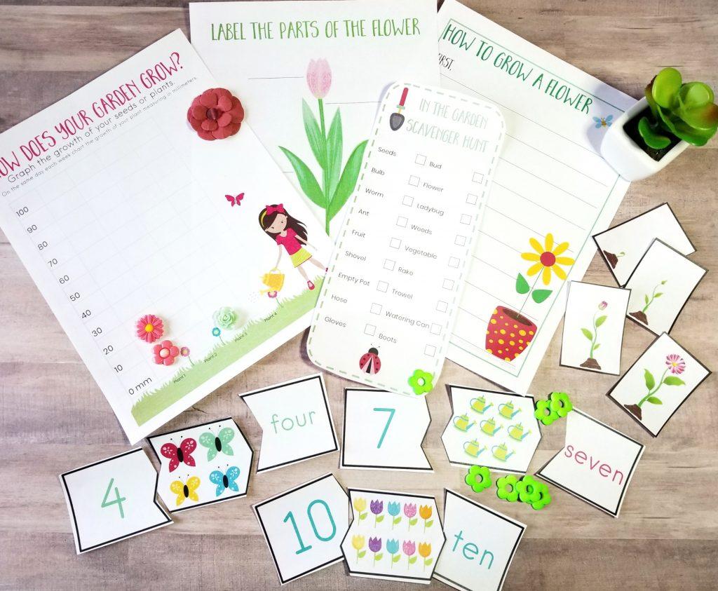 Preschool Garden Theme Printables