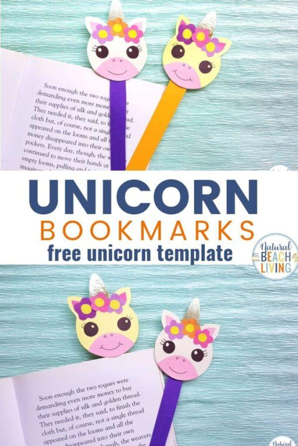 printable unicorn bookmarks # 8