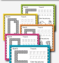 Alphabet Snap Cube Worksheets - Natural Beach Living [ 1200 x 720 Pixel ]