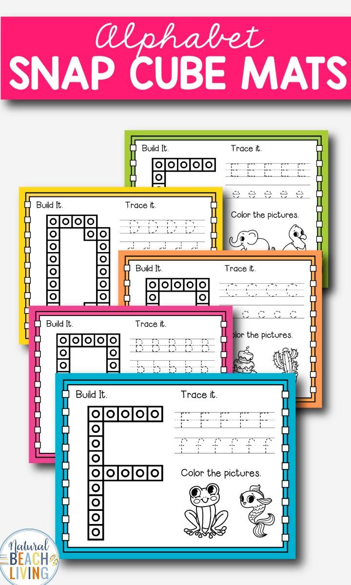 medium resolution of Alphabet Snap Cube Worksheets - Natural Beach Living