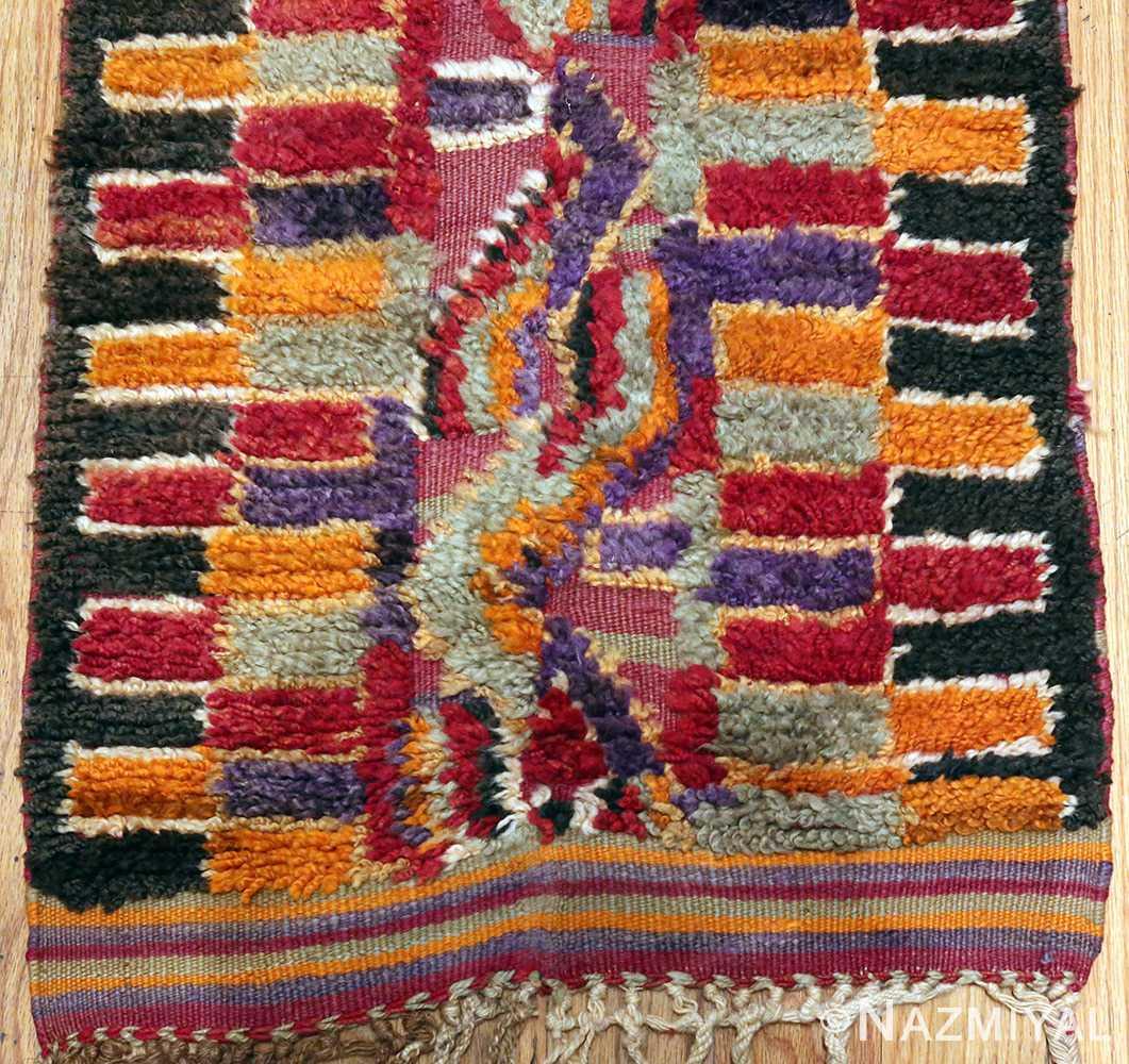 Funky Purple Vintage Moroccan Runner Rug 49942 by Nazmiyal