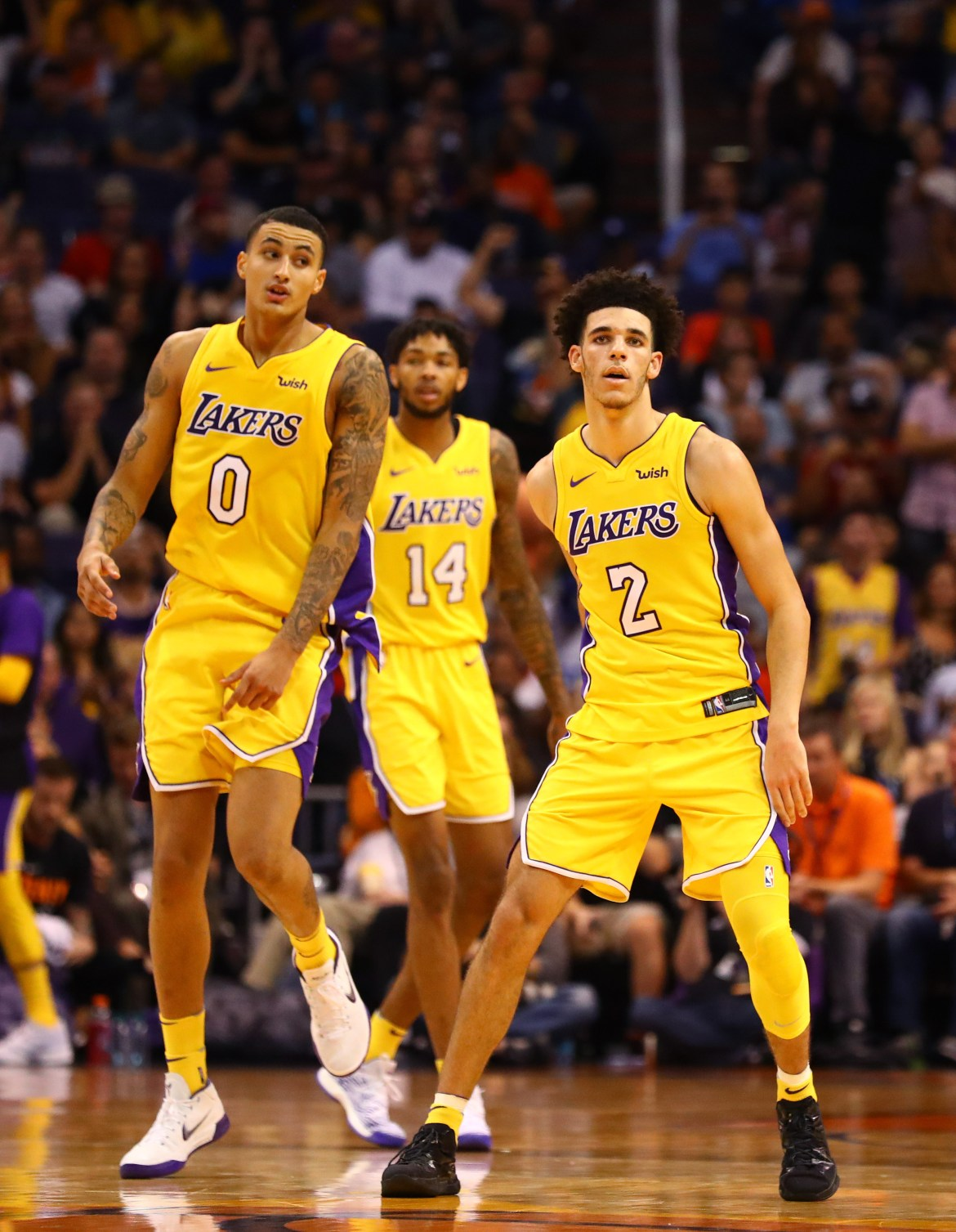 lonzo ball kyle kuzma brandon ingram yellow unis - Trending tales: Jahlil Okafor, Jimmy Butler, Kyle Kuzma and more