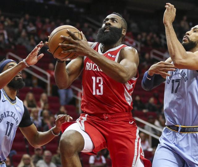 Harden Scores 30 Plus In 17th Straight Game