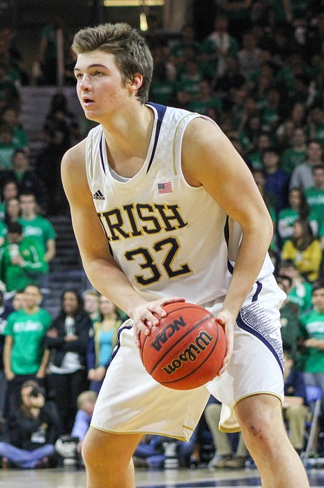 Freshman guard Steve Vasturia looks for an opening against North Carolina on Saturday at Purcell         Pavilion. Vasturia and Notre Dame take on Clemson tonight at home.