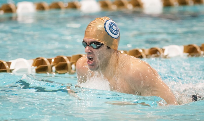 Irish senior Bertie Nel competes in the Shamrock Invitational on Jan. 31. Nel swam the freestyle for Notre Dame's 400 medley relay team, which finished fourth.